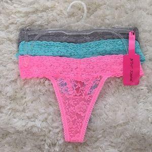 ❗️Betsey Johnson thongs set of 3 - brand new❗️